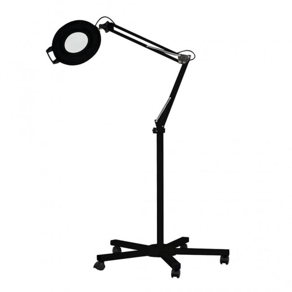 Luminaria-de-Aluminio-LED-Tripe-Preta