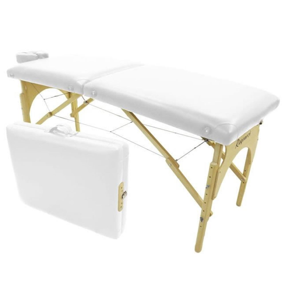 Maca-para-Massagem-Dobravel-Portatil-Branca