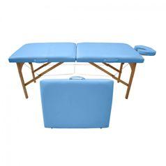 Maca-de-Massagem-Portatil-com-Altura-Fixa-para-Fisioterapia-e-Estetica-Azul-Ceu---Tudo-Belo