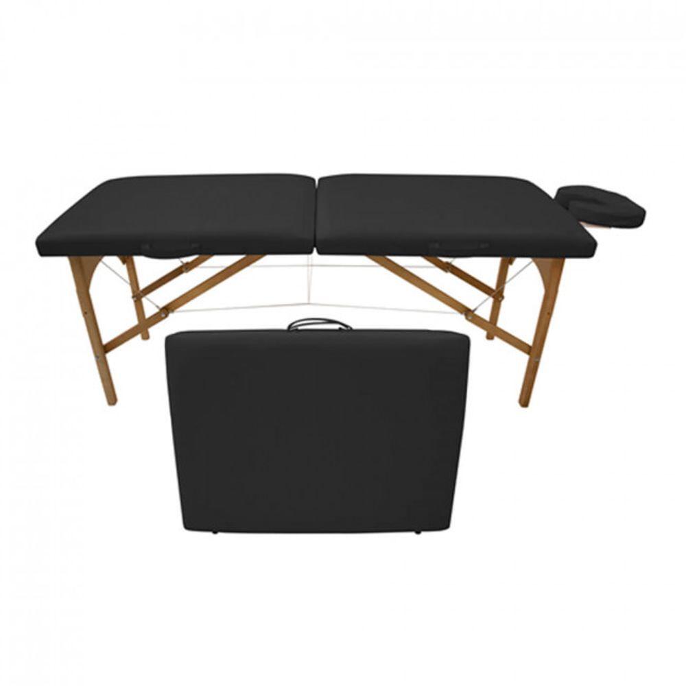 Maca-de-Massagem-Portatil-com-Altura-Fixa-para-Fisioterapia-e-Estetica-Preta---Tudo-Belo