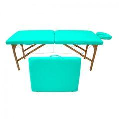Maca-de-Massagem-Portatil-com-Altura-Fixa-para-Fisioterapia-e-Estetica-Verde-Agua---Tudo-Belo